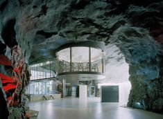 Architecture of WikiLeaks: Stockholm Cold War Bunker - http://weburbanist.com/2010/12/17/architecture-of-wikileaks-stockholm-cold-war-bunker/