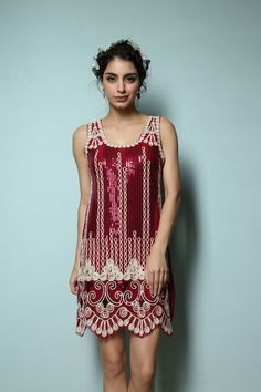 Dresses for high school Vintage Gtasby Charleston Flapper Dress Sequin Embroidery Scalloped Hem Party Dress 20s Fashion, Timeless Fashion, Fashion Dresses, Vintage Fashion, Dress Outfits, Fashion Trends, Flapper Style Dresses, 1920s Dress, Mode Vintage
