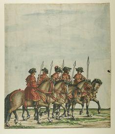 Artist: various, Title: »Triumphzug Kaiser Maximilians« Blatt 47, Date: 1526, Note: colouring done in 1765 by Josef Hoeger