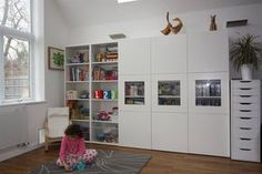 ikea - besta system = lounge, dining, office, craft and spare rooms. Ikea Inspiration, Living Room Inspiration, Ikea Playroom, Playroom Storage, Kids Storage, Ikea Units, Dining Room Storage, Ikea Office, Best Ikea