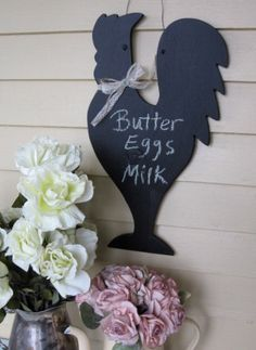 Rooster Chalkboard Farmhouse chalkboard Rooster by Fannypippin, $24.00