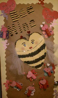 Valentine Bee Mine Preschool Door Decoration