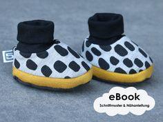 Kleine Schuhe zum Selbernähen - Nähanleitung und Schnittmuster via Makerist.de