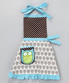 Take a look at this Hoot Stuff Apron - Kids by Whim on #zulily today! OMG cute! only 9.99- great gift for a little girl for valentine's day or other holiday!