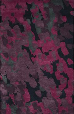 JaipurLiving Blue Wool and Art Silk Hand Tufted Purple/Pink Area Rug Rug Size: Contemporary Area Rugs, Modern Rugs, Pink Abstract, Abstract Pattern, Jaipur Rugs, Purple Area Rugs, Hand Tufted Rugs, Rugs Online, Throw Rugs