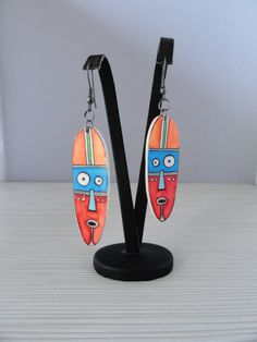 Earrings polymer clay. by Klickart on Etsy