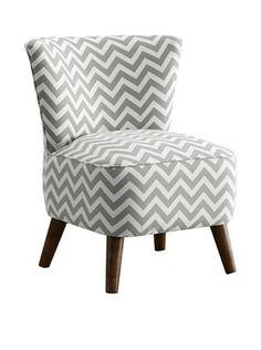 51% OFF Skyline Furniture Modern Chair, Zig Zag Ash-White