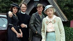 Murder at the Vicarage - Griselda, Reverend Clement, Lawrence Redding, Miss Marple (Geraldine McEwan