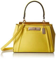 Aldo Sugarland Satchel Bag, Yellow Miscellaneous, One Size * Click here for more details @…