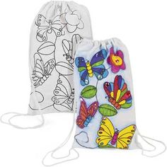 Color Your Own Butterfly Backpack for a Birthday Party Favor