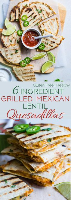 Grilled Mexican Lentil Quesadillas - This quick and easy Mexican quesadilla recipe is a tasty, no-fuss summer meal for meatless Monday! Make them for a weeknight meal that everyone will love! | Foodfaithfitness.com | @FoodFaithFit