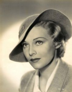 Madeleine Carroll as 'Elsa Carrington' - 1936 - Hat by Lilly Daché - Secret Agent - Director: Alfred Hitchcock - @~ Mlle