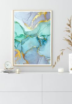 Let yourself be inspired by our watercolor posters. Discover them now! Gold Poster, Canvas Wall Art, Canvas Prints, Anemone Flower, Pink Marble, Marble Wall, Alcohol Ink Art, Trees To Plant, Line Art