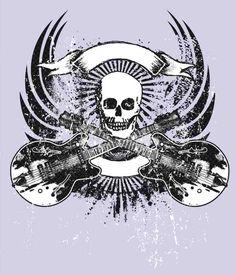 caveiras rock roll - Pesquisa Google