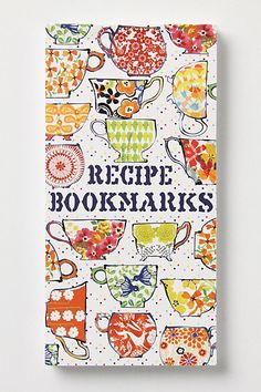 Pay attention family!  I need these.   great stocking stuffer! Recipe Bookmarks Book - Anthropologie.com
