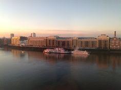 Butlers wharf, London. Next to Tower Bridge at dawn