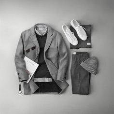 "2,337 Me gusta, 31 comentarios - Phil Cohen (@thepacman82) en Instagram: ""Gray galore with @jagvi_  Styled a few of my favorite pieces from the contemporary French menswear…"""