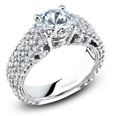 18k White Gold Pave Prong Classic Diamond Engagement Ring NK15198-W  bovadiamonds.com  214.744.7668  contact: Erica