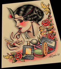 Il trucco è vita Tattoo Flash Art