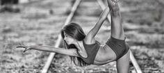 Yoga on Railroad Tracks