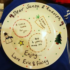 Sharpie Christmas plate.