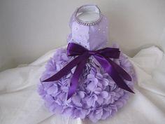 Dog Dress Lavender Hearts special order por NinasCoutureCloset