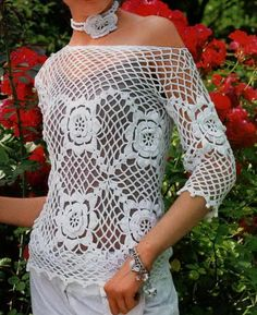 Crochet Sweater: Crochet Sweater Pattern - Crochet Flowers