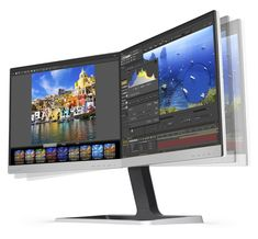 """The """"Brilliance Two-in-One LCD Monitor 19DP6QJ"""" is the world's first bezel-less 2-in-1 monitor. Designed for users in the business market, the seamless, dual-monitor offers high attention to detail alongside a light, open footprint for a clutter-free design. The ultra-thin bezel minimizes distractions, and the two displays can be combined almost seamlessly to give the feeling of having one large display."""