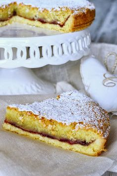 Torta cappuccina (almond and cherry tart) Italian Cake, Italian Desserts, Italian Recipes, Bakery Recipes, Dessert Recipes, Cooking Recipes, Cake Cookies, Cupcakes, Sem Gluten Sem Lactose