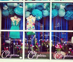 Spring 5- blue poms and lanterns