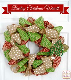 A Glimpse Inside: Burlap Christmas Wreath