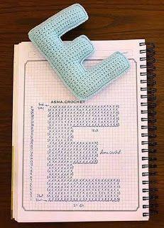 Crochet Letters Pattern, Crochet Alphabet, Crochet Flower Patterns, Crochet Stitches Patterns, Crochet Patterns Amigurumi, Crochet Motif, Stitch Patterns, Crochet Pillow, Crochet Bear