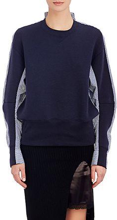 Sacai Luck Blouson-Back Sweatshirt - Tees & Knits - Barneys.com