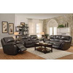 Red Barrel Studio Bolander Power Leather Reclining Sofa #RecliningSofa