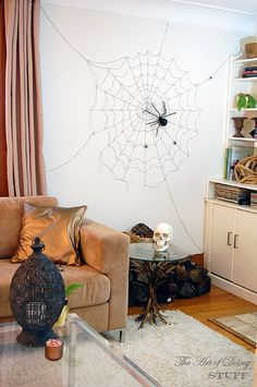 DIY spiderweb #halloween