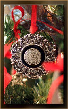 Davenport Hotel custom Christmas ornament designed by Classic Legacy custom gifts.