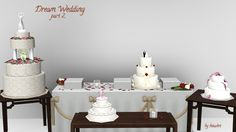 Mod The Sims - Dream Wedding - Cakes+