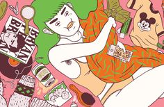 It's Nice That | Strong and fabulous females in Louise Rosenkrands' editorial illustrations