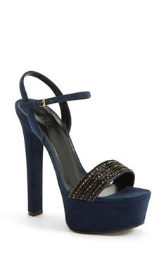 Gucci 'Leila' Suede Platform Sandal (Women) available at #Nordstrom