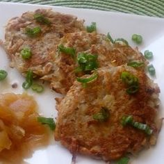 Bramboracky (Czech Savory Potato Pancakes) Recipe Recipe : These fried potato pancakes are best accompanied by beer. You can adjust the seasonings and add other ingredients to your liking. Gourmet Recipes, Soup Recipes, Healthy Recipes, Potato Recipes, Pancake Recipes, Bread Recipes, Healthy Foods, Cookie Recipes, Breakfast Recipes