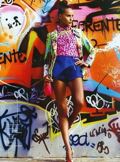 Bright prints and graffiti, two of my greatest loves!
