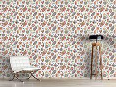 Design #Tapete Eifrige Schmetterlinge