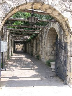Gate at the Alamo - San Antonio, Texas - I have read these grounds/old buildings are haunted, it is a very sobering place to visit. If you stop and think about the history, it's not just the regular tourist attraction. Very interesting place.