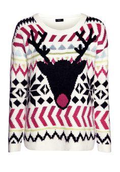 Clothing at Tesco | F&F Neon Reindeer Fair Isle Jumper > knitwear > Women's Christmas jumpers > Christmas