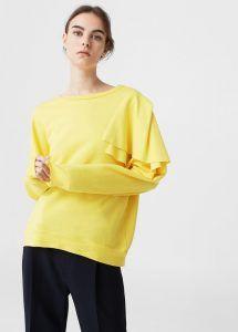Modetrends Frühling / Sommer 2017 - Lipödem Mode 80s Style Rüschen Ärmel Gelb