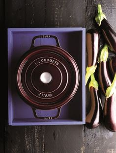 Created and perfected in the style of the French Oven, these 100% cast iron circular cocottes from Staub distribute heat evenly for consistently textured and thoroughly cooked meals. Perfect for cooking chili, braised beef, stews and more.