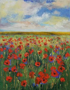 """Poppy Painting"" by Michael Creese 