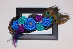 Peacock Rosette Maternity Sash by MegansHairCandy on Etsy, $55.00