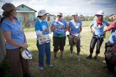 The Women Build team in Haiti soaking in the amazingness of the delightful Rosalynn Carter.