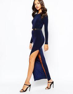 Image 1 - Boohoo - Maxi robe élégante fendue jusqu'à la cuisse